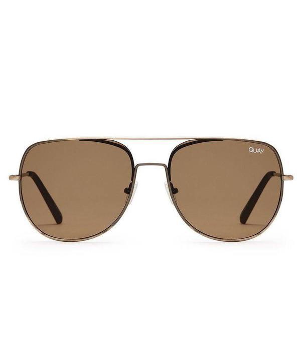 QUAY AUSTRALIA Quay Living Large Brown Sunglasses