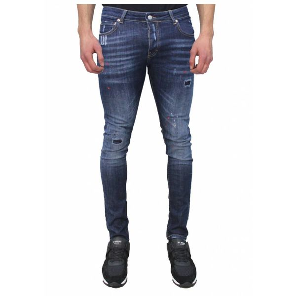 My Brand Jack 036 Red Spotted  Jeans Blue
