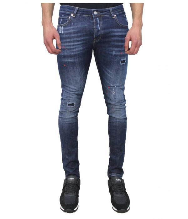 My Brand My Brand Jack 036 Red Spotted  Jeans Blue