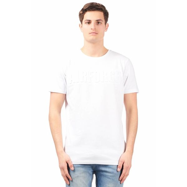 Airforce T-shirt Emboss White