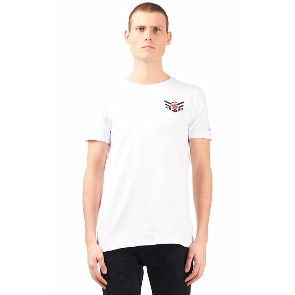 Airforce T-shirt Eagle Star White