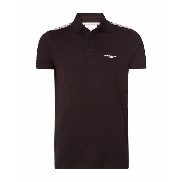 Purewhite Ballin SS18 18070106 Polo Black