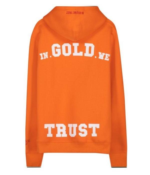 In Gold We Trust IGWT Logo Hoodie Orange