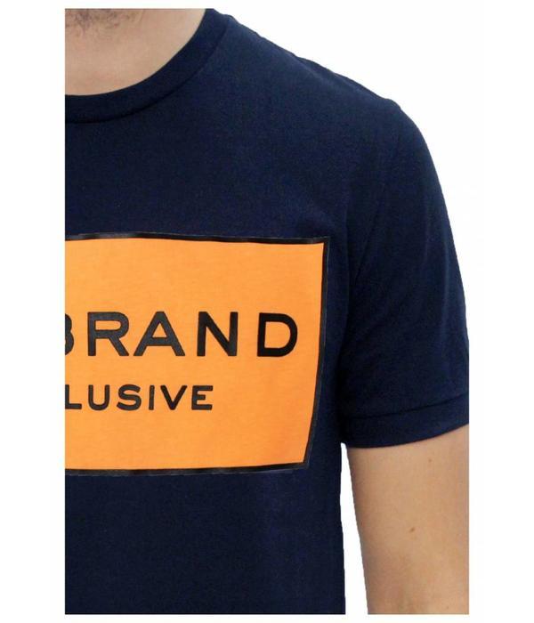 My Brand My Brand Logo Branding T-shirt Navy-Orange