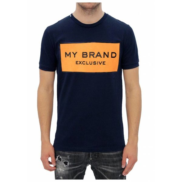 My Brand Logo Branding T-shirt Navy-Orange