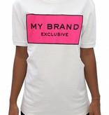 My Brand My Brand Logo Branding T-shirt Pink