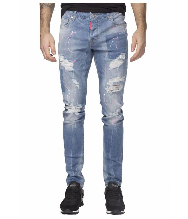 My Brand My Brand Jack 039 Pink Destroyed Jeans