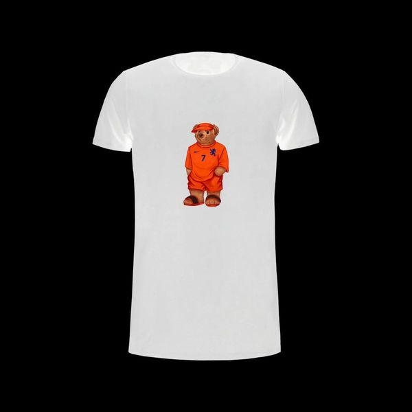 FM T-Shirt White/Oranje