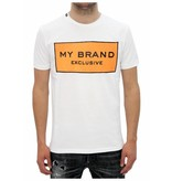My Brand My Brand Logo Branding T-shirt Orange