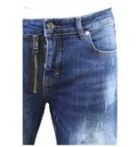 My Brand My Brand Vittore 012 Zipper Short Jeans Blue