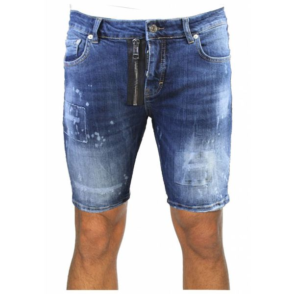 My Brand Vittore 012 Zipper Short Jeans Blue