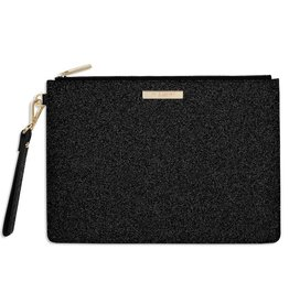 Katie Loxton Clutch Large - Stardust Sparkly Black