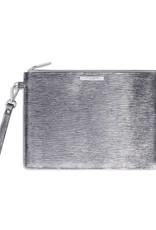 Katie Loxton Clutch Large - Metallic Silver