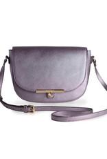 Katie Loxton Handtas - Cece Saddle Bag Metallic Antraciet
