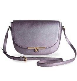 Katie Loxton Purse - Cece Saddle Bag Metallic Charcoal