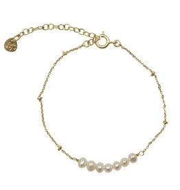 A Beautiful Story Bliss Pearl Armband - Goud