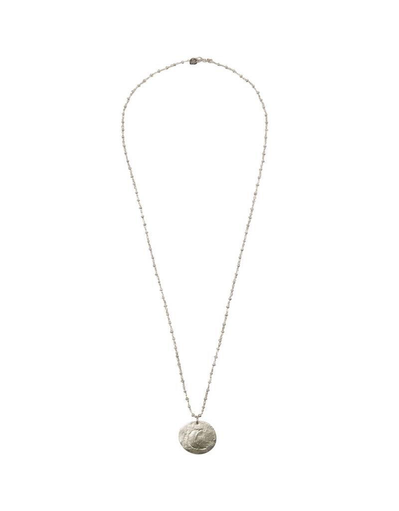 A Beautiful Story Melody Moon Ketting - Zilver