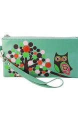 Shagwear Accessories Bag - Retro Owl Light Green