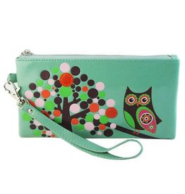 Shagwear Accessories Bag - Retro Owl Light Green