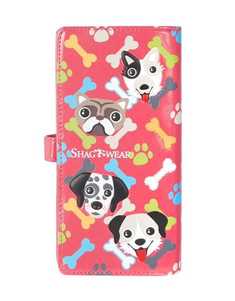 Shagwear Puppy Pattern - Fuchsia