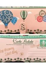 Shagwear Luchtballonnen Postkaart - Licht Roos