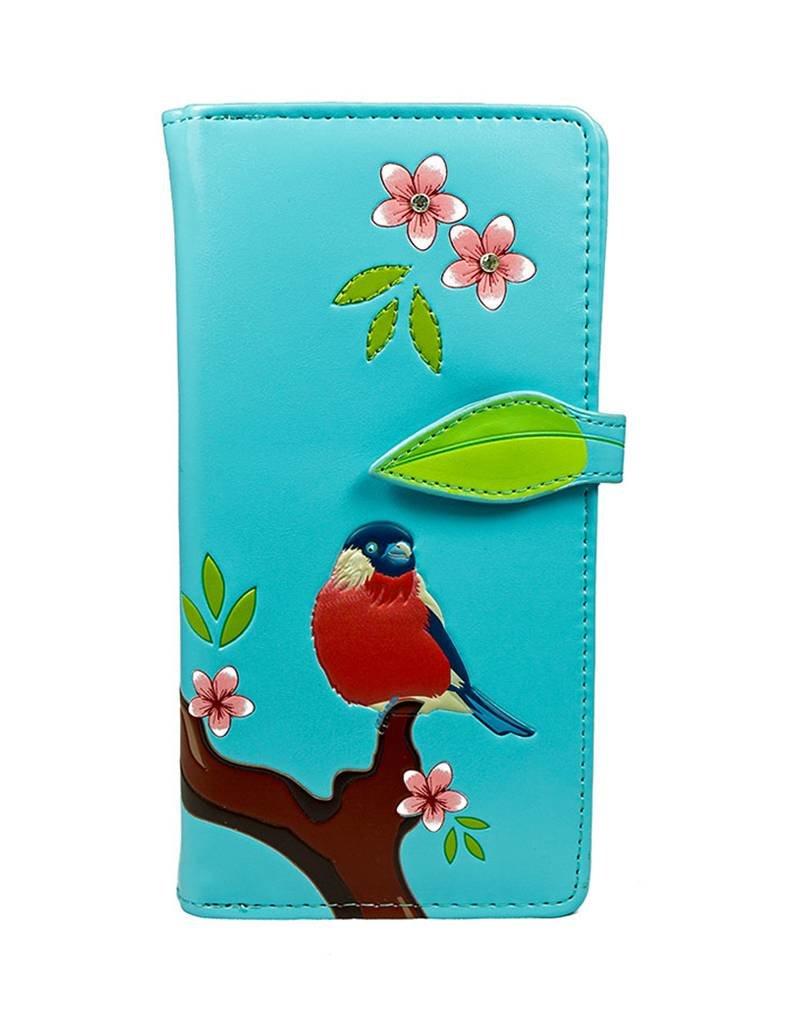 Shagwear Red Crested Bird - Light Blue