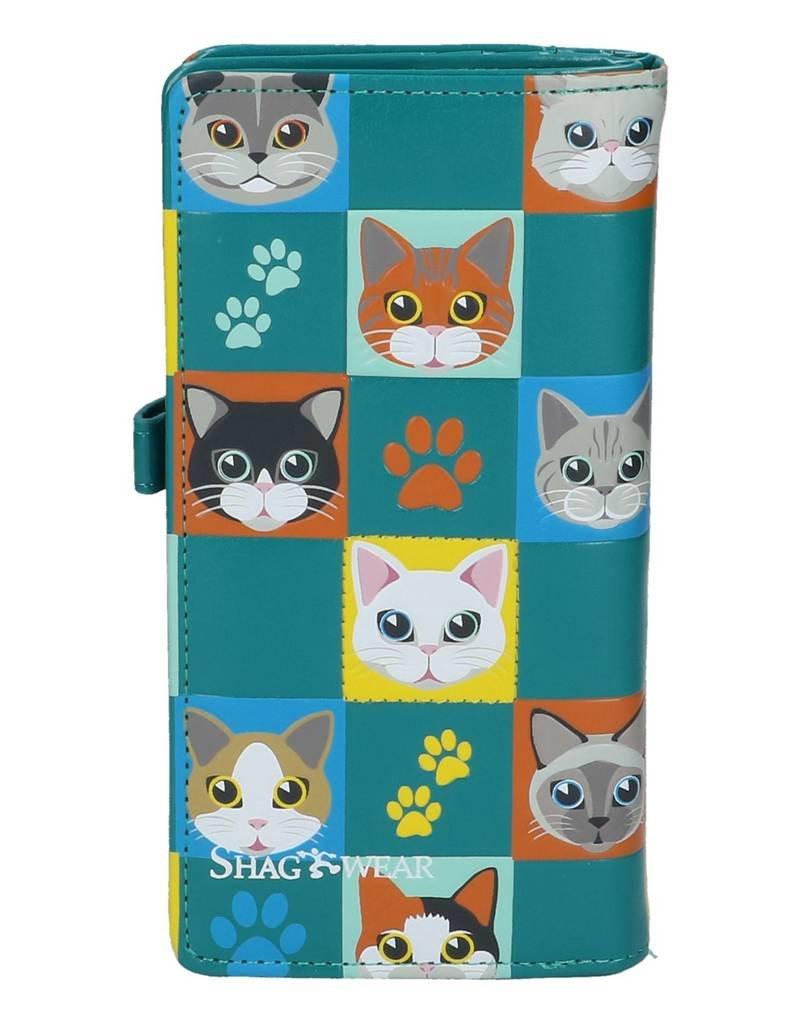 Shagwear Cat Checkers - Turquoise