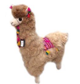 Inkari Alpaca Mega XXL - Beige met Versiering