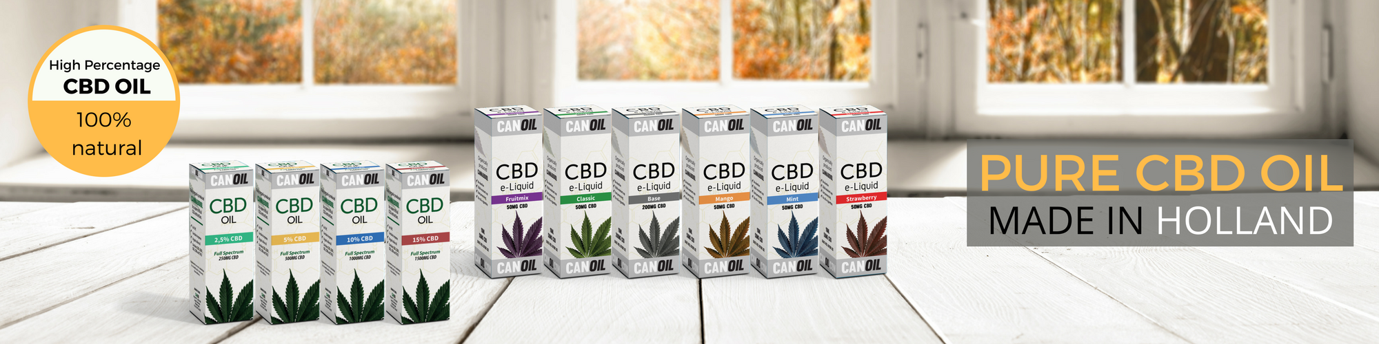 CBD manufacturer CBD Oil and CBD E-Liquids | 100% natural CBD Oil banner 2
