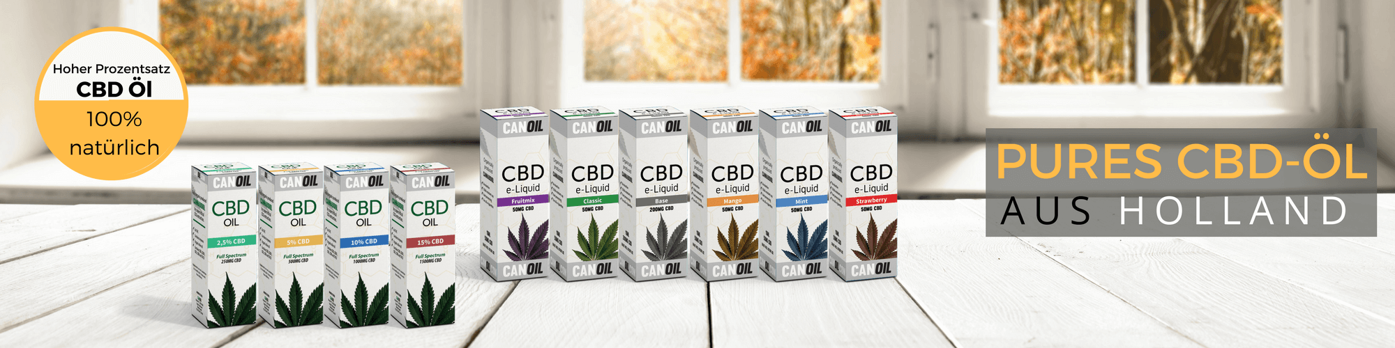 Produzent CBD ÖL und CBD Produkte | Canoil CBD Öl kaufen banner 2