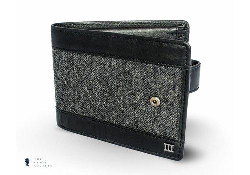 Tresanti zwarte portemonnee met een stoffen band