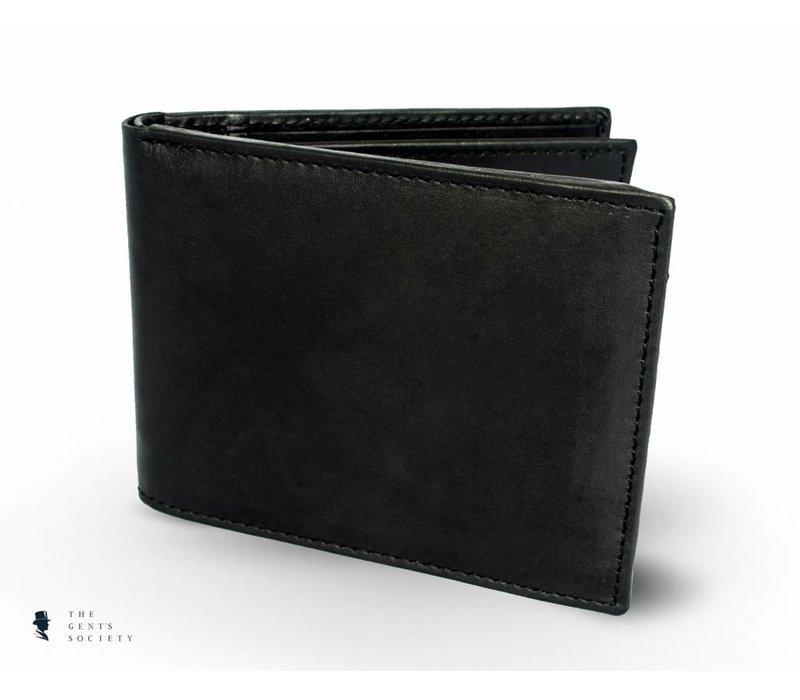 zwart glad lederen portemonnee