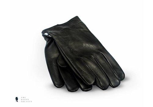 Tresanti zwarte handschoenen hertenleder