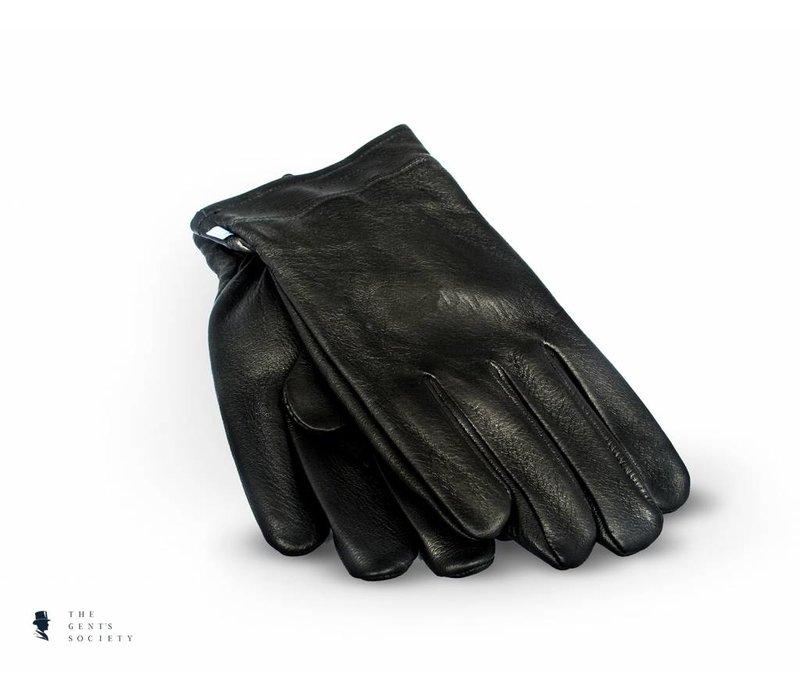 zwarte handschoenen van hertenleder