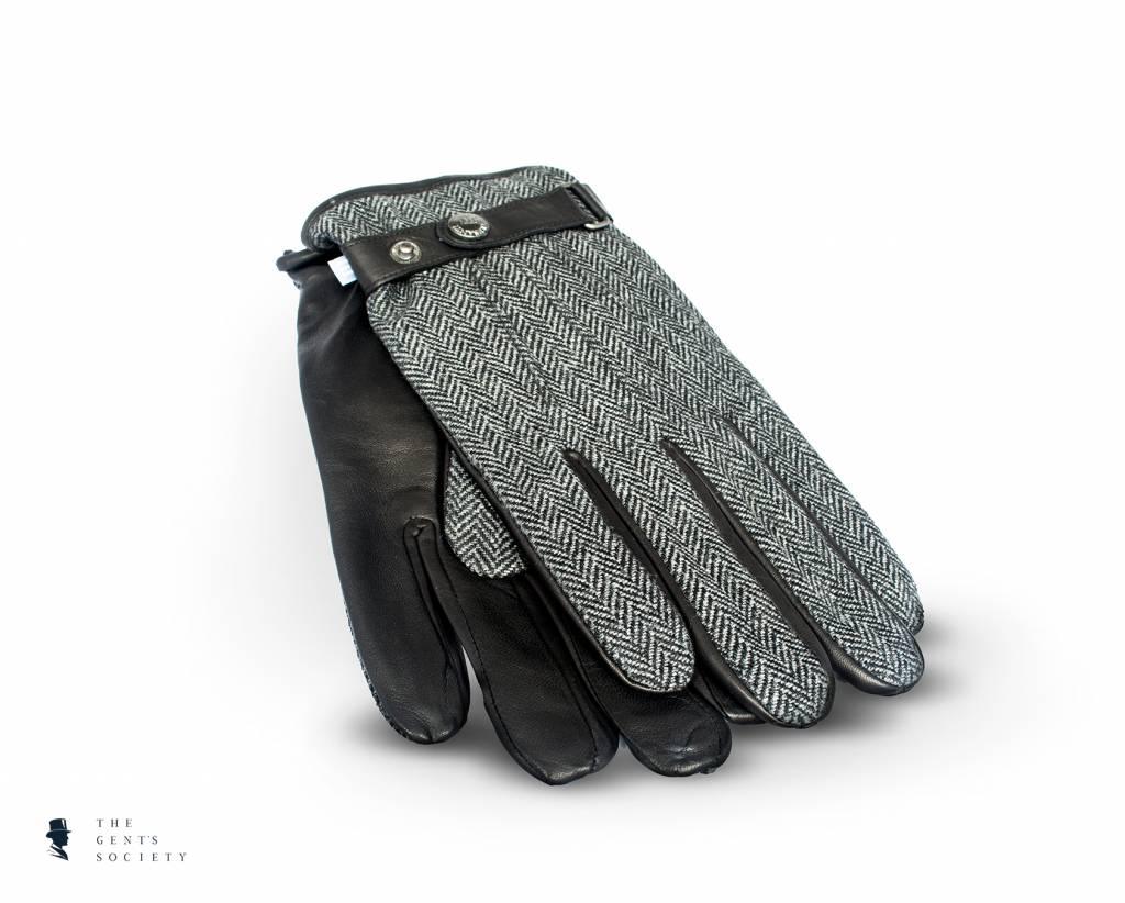 Uniek bruin lederen handschoenen met stof van Tresanti   The Gent u0026#39;s Society
