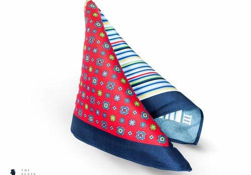 Tresanti geprint blauw rood pochet
