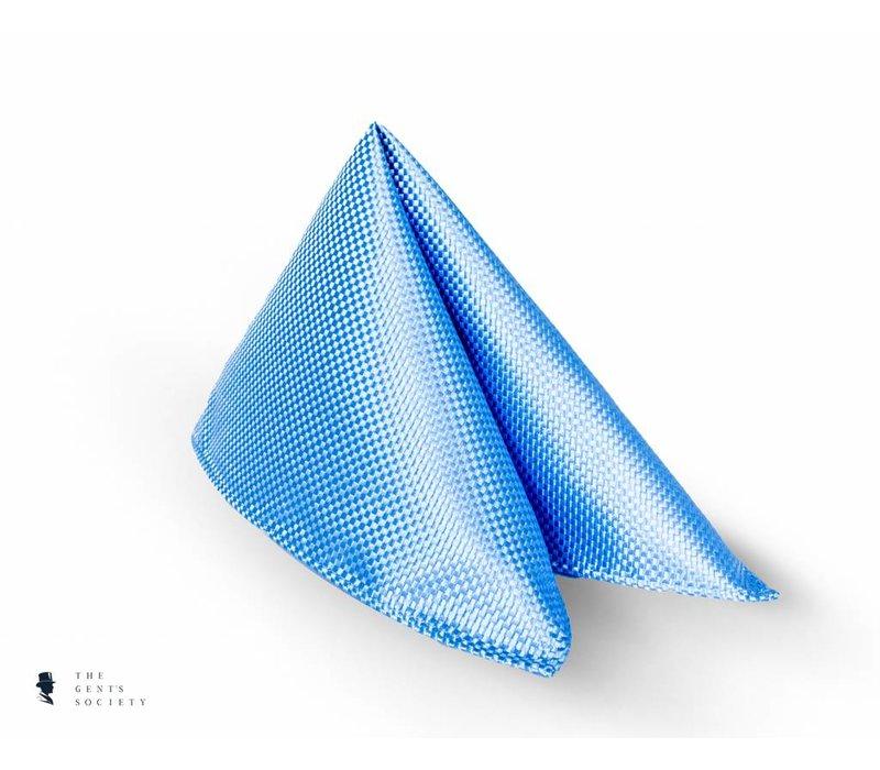 lichtblauw pochet van zijde