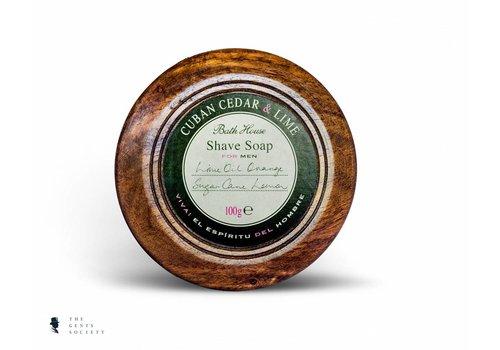 Bath House luxe natuurlijke scheerzeep Cuban Cedar & Lime