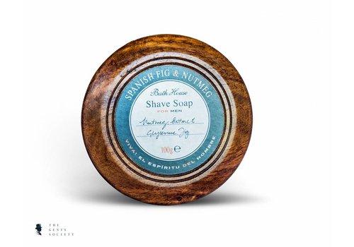 Bath House luxe natuurlijke scheerzeep Spanish Fig & Nutmeg