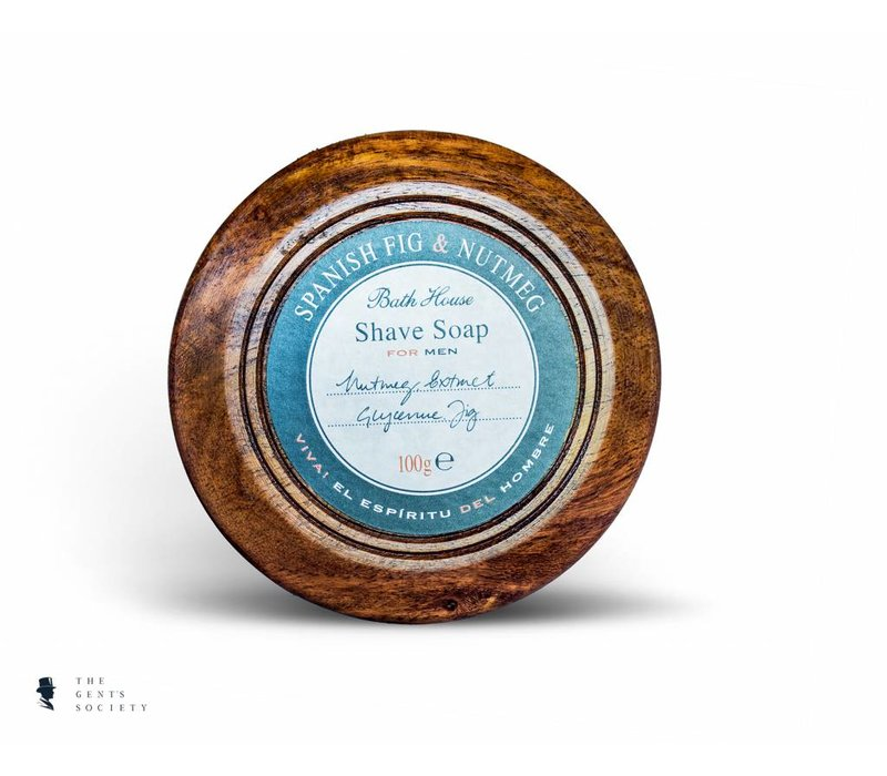 luxe natuurlijke scheerzeep Spanish Fig & Nutmeg