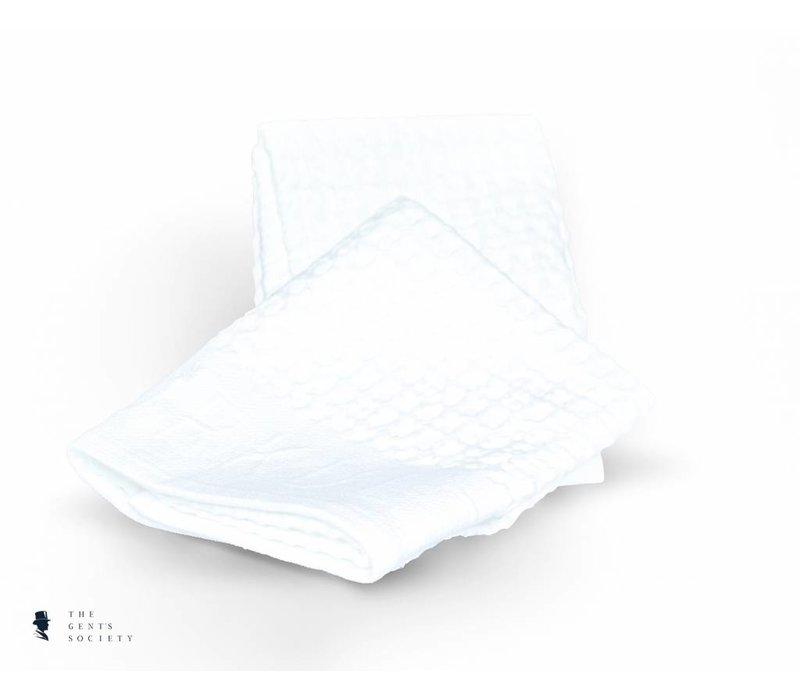 set van 2 witte scheerhanddoeken