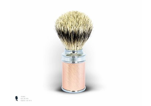Mühle scheerkwast Silvertip rosé goud