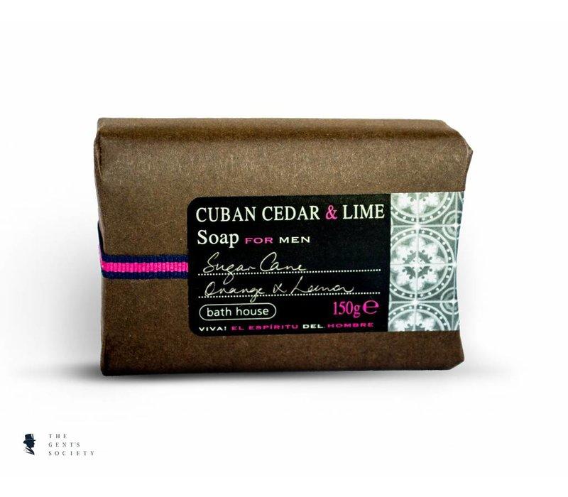 luxe stuk kwaliteits bad zeep Cuban Cedar & Lime