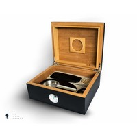 Humidor met cherry finish, complete set voor 50 sigaren