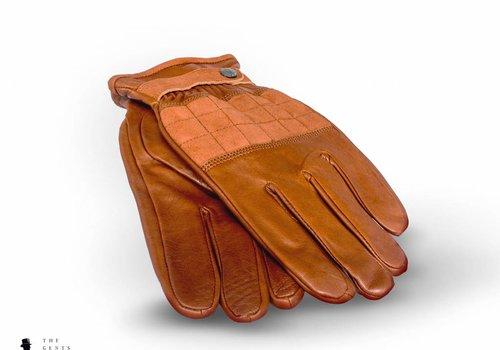 Tresanti cognac lederen handschoenen met suède