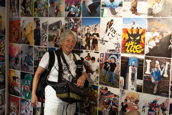 Auch Martha Cooper, Koryphäe der Street Art Kultur, war mit dabei.