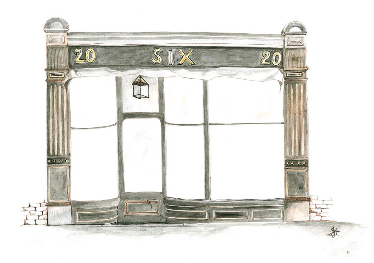 SIX Menswear shop front