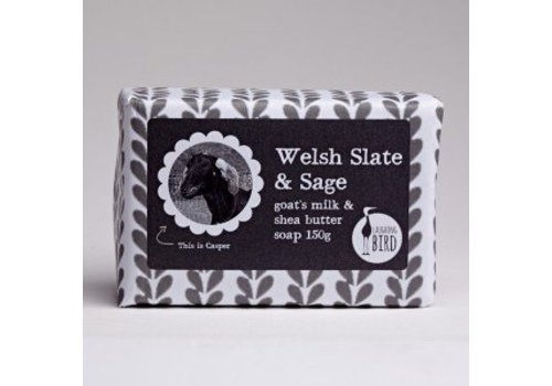 Laughing Bird Shea Butter and Goats Milk Soap - Welsh Slate and Sage