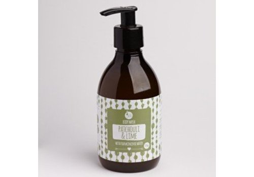 Laughing Bird Body Wash - Patchouli and Lime with Frankincense Water