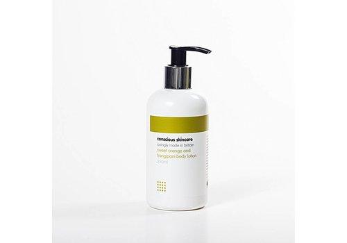 Conscious Skincare Organic Body Lotion: Sweet Orange and Frangipani